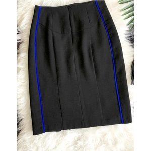 Nanette Lepore Textured Slit Pencil Skirt